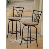 Hamilton Bar Height Swivel Bar Stool (Set of 2)