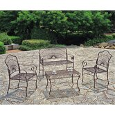 Iron Patio 4 Piece Lounge Seating Group