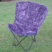 Caravan Butterfly Folding Dining Fabric Side Chair