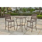 Santa Fe 3 Piece Iron Bar Height Dining Set