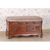 Victorian Wood Storage Bedroom Bench