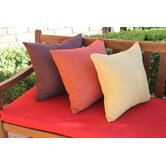 20&quot; Solid Cotton Throw Pillow (Set of 2)