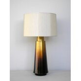 Tower Table Lamp in Bronze Fade with Pebble Silk Shade