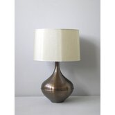 Kiss Table Lamp in Mocha with Pebble Shade