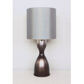 Lulu Table Lamp in Smoke with Platinum Shade