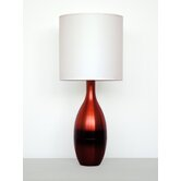 Horizon Juggler Table Lamp with White Linen Shade