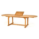 "Teak Oval Extension Dining Table, 84"" - 120"""