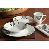 16 Piece Mode Porcelain Dinner Set