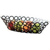 Metal Rings Fruit Basket Eye Shape in Black