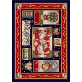 Winter Seasonal Holiday Partridge in a Pear Tree Christmas Novelty Rug