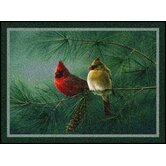 Hautman Cardinals and Pine Novelty Rug