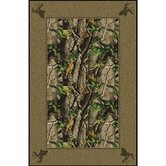 Realtree Hardwood Solid Border Novelty Rug