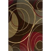 Amelia Circle Brown Rug