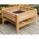 "Cedar Square 24.5"" High Raised Container Garden"