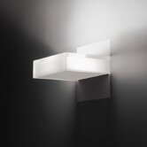 Beta Cross Wall Sconce in Soft White Lacquer