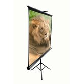 "MaxWhite Tripod Series Tripod / Portable Pull Up Projector Screen - 119"" Diagonal in Black Case"