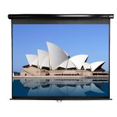 "Manual Pull Down MaxWhite 150"" Projection Screen in Black Case"