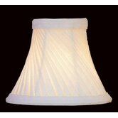 Swirl Pleat Chandelier Shade in Cream