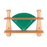 "21"" H Baseball Field Shelf in Natural Wood"