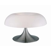 Table Lamp in Polished Steel with Acrylic Shade