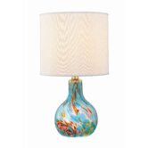 Glass Body  Table Lamp in Aqua