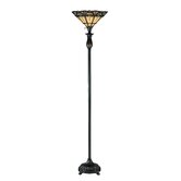 Elodie  Torchiere Floor Lamp in Dark Bronze