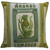 "Botanica 20"" x 20"" Linen Pillow with Ananas Comosus Print"