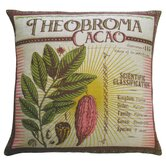 "Botanica 20"" x 20"" Linen Pillow with Theobroma Cacao Print"