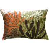 Ecco 13&quot; x 20&quot; Pillow with Rust / Brown Leaves