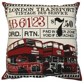 Ticket Pillow in Red