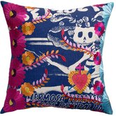 Mexico Cotton Carina Print Pillow