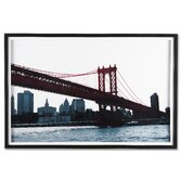 "Manhattan Bridge Framed Print Art - 24"" X 35"""