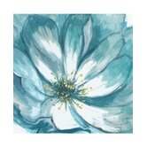 Teal Fleur Canvas