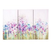Watercolor Meadow  Printed Canvas Art - 24&quot; X 35&quot; (Set of 3)