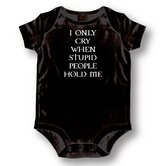 Stupid People Baby Romper
