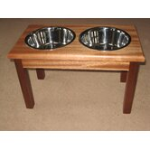 2-Bowl Traditional Style Pet Diner in Specality Wood