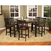 Rosetta 7 Piece Counter Height Dining Set