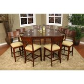Este 9 Piece Counter Height Dining Set