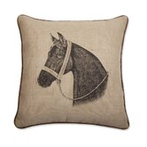 "Horse 18"" x 18"" Pillow in Java"
