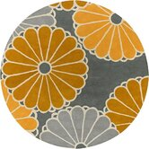 Tufted Pile Dove/Gold Parasols Rug