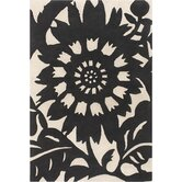 Tufted Pile Ebony/Cream Zinnia Rug