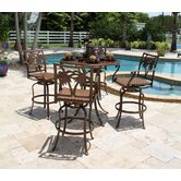 Coco Palm 5 Piece Bar Height Dining Set