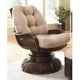 Legacy Swivel Rocking Chair with Cushion