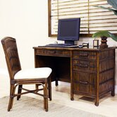 Polynesian Computer Desk with Chair