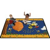 Educational Animal Busy Bee Kids Rug