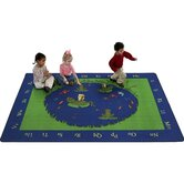 Educational Animal Frogs Kids Rug