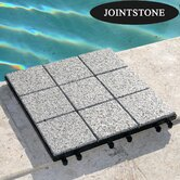 Jointstone Interlocking Granite Deck and Flooring Tiles (Set of 6 Tiles)