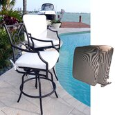 Cast Aluminum Barstool with Armrest (Set of 2)