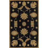 Dynasty All Over Persian Vine Black Rug