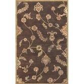 Dynasty Persian Garland Brown/Gold Floral Rug
